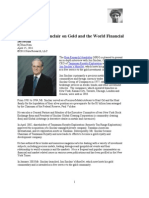 Jim Sinclair on Gold and the World Financial System