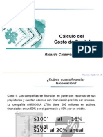 Calculo de Costo de Capital