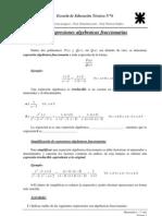 Algebraicas_Fraccionarias