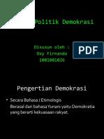 Sistem Politik Demokrasi