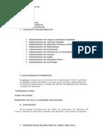 Memoria Plan de Igualdad Curso 2008-1. Curso