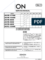 DENON AVC-1508 AVR-488 Series Service Manual