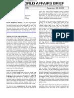 World Affairs Brief December 2008