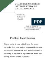 Powermanagement in wireless sensor network
