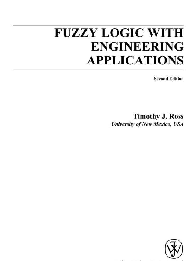 fuzzy logic with engineering applications bayesian probability rh scribd com fuzzy logic with engineering applications by timothy j ross solution manual pdf