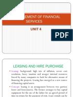 Management of Financial Services Unit 4