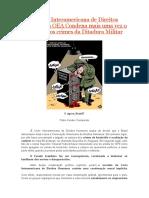 A Corte Interamericana de Direitos Humans da OEA Condena Mais Uma Vez o Brasil Pelos Crimes Da Ditadura Militar