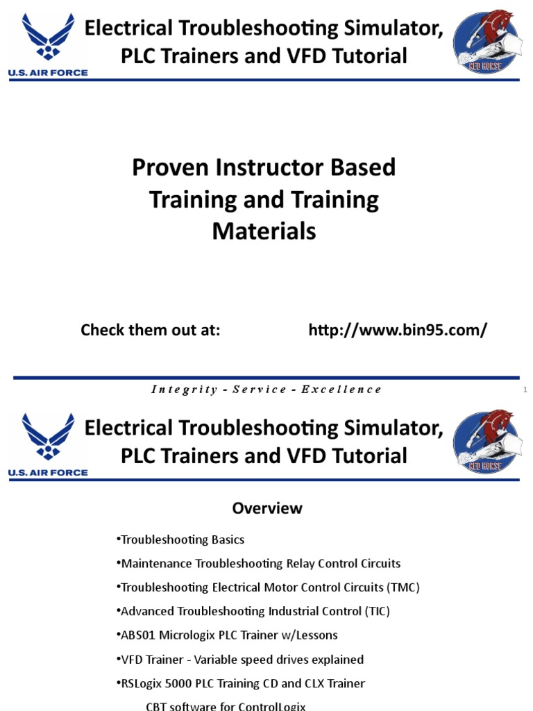 Electrical Trouble Shooting Trainers Programmable Logic Controller Relay Maintenance Components