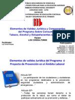 Programa Sobre Consumo de  Tabaco, Alcohol y Estupefacientes en el Trabajo