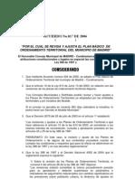 Acuerdo No.017 de 2006 Ajuste Pbot Madrid