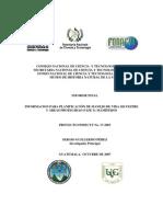 INFORMACION PARA PLANIFICACIÓN DE MANEJO DE VIDA SILVESTRE Y ÁREAS PROTEGIDAS