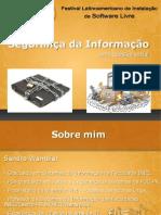 Palestra  Segurança da Informação - Uma questão social