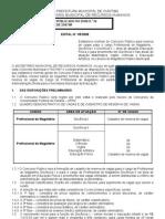 Edital Concurso Prefeitura Curitiba