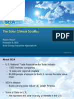 The Solar Climate Solution