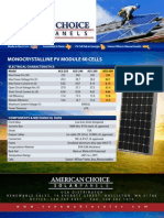 American Choice Solar 250 Datasheet
