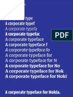 Nokia Typography