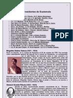 PRESIDENTES DE GHUATEMALA