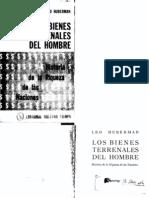Los Bienes Terrenales Del Hombre, Leo Huberman