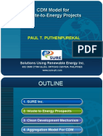 Clean Development Mechanism (CDM) Model for Waste-to-Energy Projects