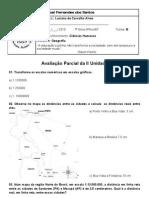 TESTE DE GEOGRAFIA DA II UNIDADE - 7ª SÉRIE