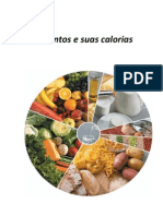 Alimentação - tabela de calorias