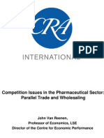 Competition Issues in the Pharmaceutical Sector - Parallel Trade and Wholesaling