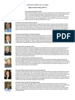 Upper School Faculty Staff Bios 2010-11