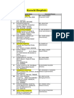 List of Hospitals