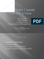 Windows 7 Name Resolution