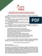 Agenda Nacional y Descentralizada por los Derechos de la Niñez y la Adolescencia - Elecciones a la Presidencia y al Congreso de la República