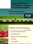 Implementing agricultural development programs