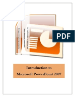 Power Point Handout 2007