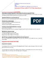 How to Process Laminated Glass With EVA Film Inter Layer