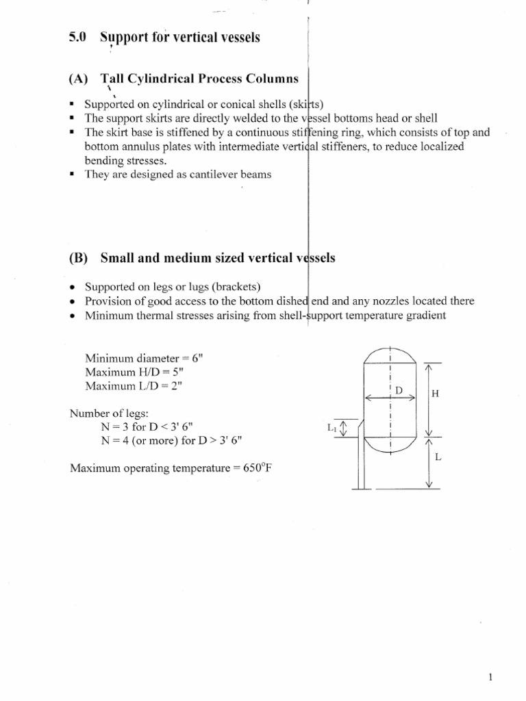 Vessel Design Ref | Stress (Mechanics) | Structural Steel