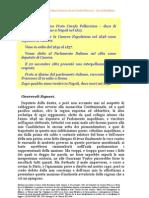 Mozione Di Inchiesta Di Marzio Francesco Proto Carafa Pallavicino - Duca Di Maddaloni