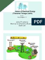 Presentation Transmission of Electrical Energy