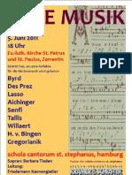 Konzert der schola cantorum st. stephanus in Zarrentin
