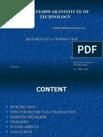 Reliable Data Transaction