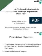 Palm Olein in Automotive Diesel for Ueda n Furui
