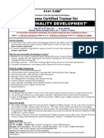 Become Certified Personality Development Trainer