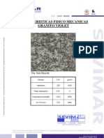 Granito Violeta G664 Informe Tecnico - SEVIMAR