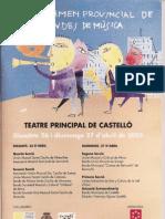 2003 certamen provincial bandes de musica castelló 2003