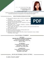 Updated Resume Nursing