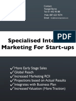 Start Up Internet Marketing for VCs and Angels