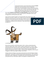 Contoh ternak kambing