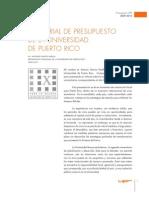 Memorial Presupuesto UPR 2009-10