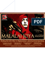Poster of Malalai Joya's speaking tour to CA, USA