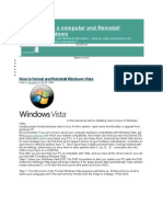 How to Format a Computer and Reinstall Microsoft Windows