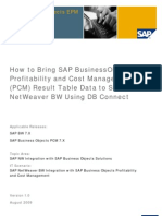 Bring SAP Business Objects Profitability and Cost Management (PCM) Result Table Data to SAP NetWeaver BW Using DB Connect