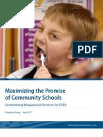 Maximizing the Promise of Community Schools